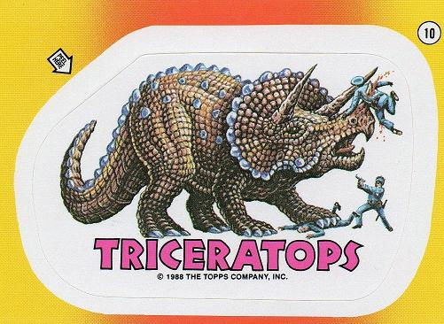 Dinosaurs Attack Card Sticker