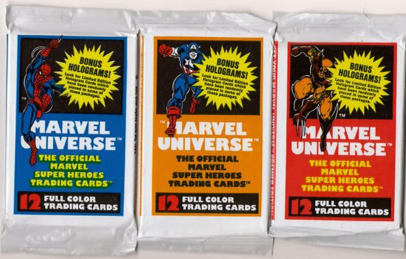 Marvel Universe Trading Card packs