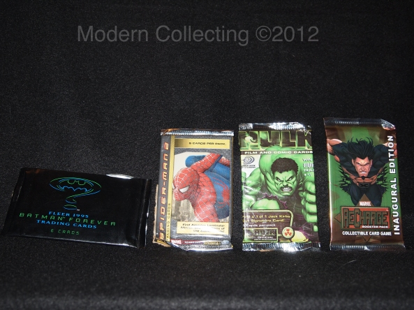 Batman Forever Trading Cards and later super hero trading cards