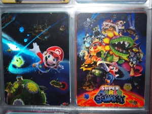Super Mario Galaxy trading foil cards