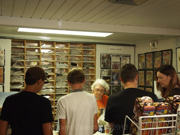 Booming Business at B & D Comics!