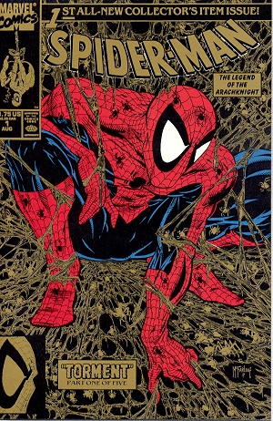 Spiderman 1 Todd McFarlane Gold