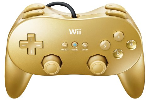 Goldeneye Wii Gold Classic Controller