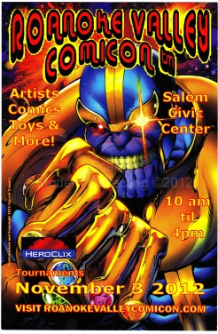 Roanoke Valley Comicon Flyer