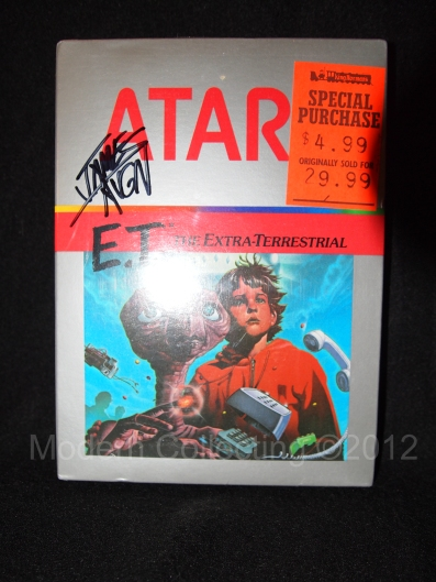 E.T. Atari 2600 Factory sealed autographed James Rolfe AVGN