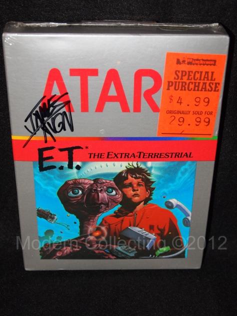E.T. Atari 2600 Factory sealed autograph James Rolfe AVGN