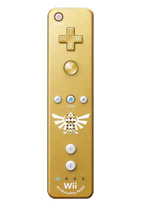 Legend of Zelda Skyward Sword Wii Gold Controller