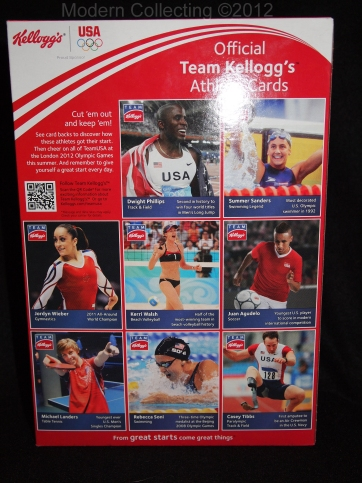Kellogg's 2012 Summer Olympics cereal Athletic Cards