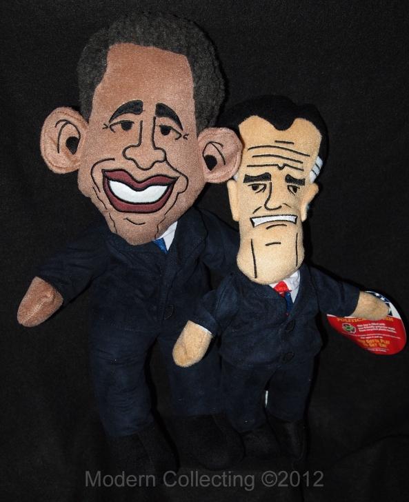 Obama Romney plushes