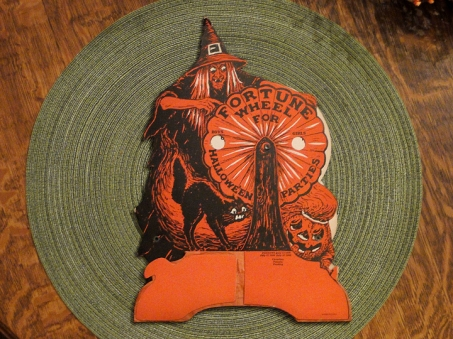 Vintage Beistle Fortune Wheel For Halloween Parties game decoration, Pat'd 1926