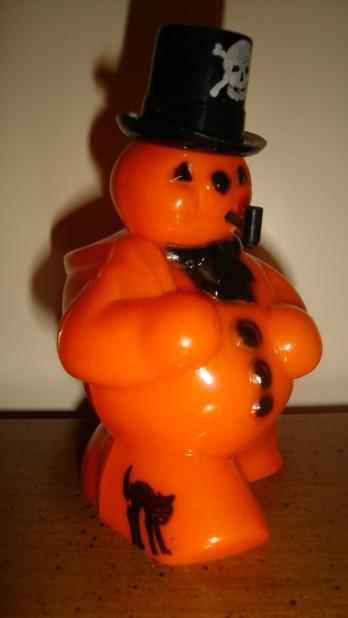 Vintage Rosbro Celluloid Halloween Snowman