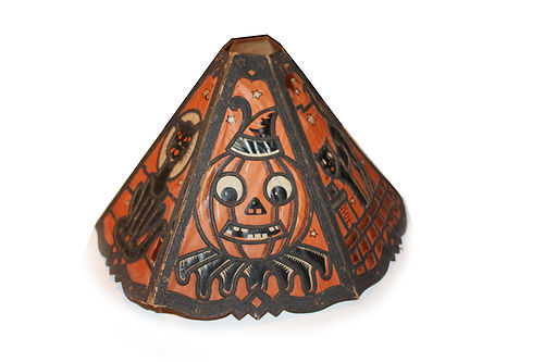 Vintage German Halloween Die-Cut Lampshade