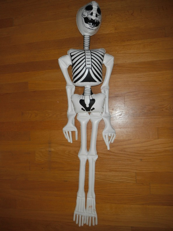 "Vtg 47"" Halloween Inflatable Skeleton Decoration"